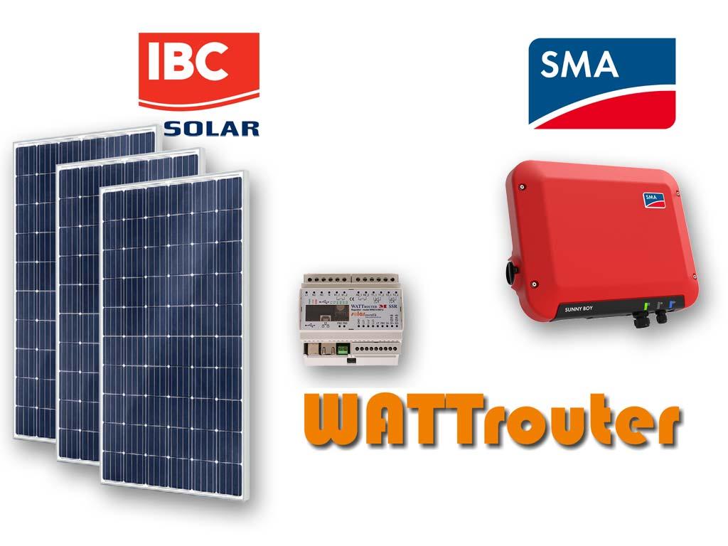 Fotovoltaická elektrárna s akumulací přebytků do teplé vody