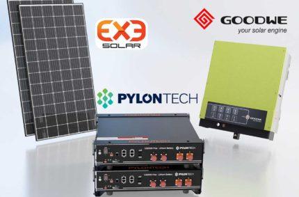 Hybridní solární elektrárna s akumulátorem LiFePO4 Pylontech