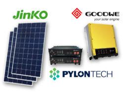 Hybridní solární elektrárna s akumulátorem LiFePO4