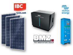 Hybridní solární elektrárna s akumulátorem li-ion