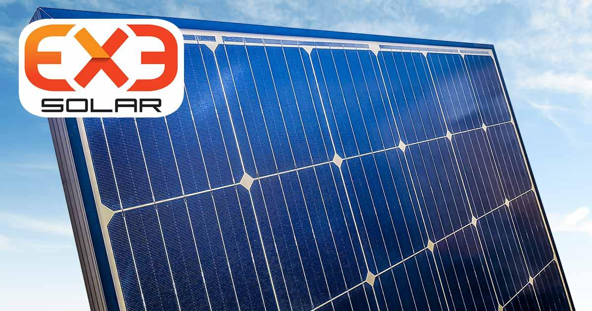 Monokrystalický fotovoltaický modul EXE Solar o výkonu 380 Wp