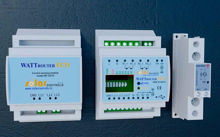 Optimizer Wattrouter ECO pro využití přebytků z fotovoltaické elektrárny