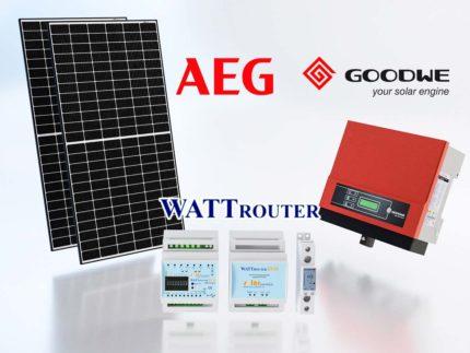 Komponenty fotovoltaické elektrárny 2,7 kWp - AEG, GoodWe, WATTrouter